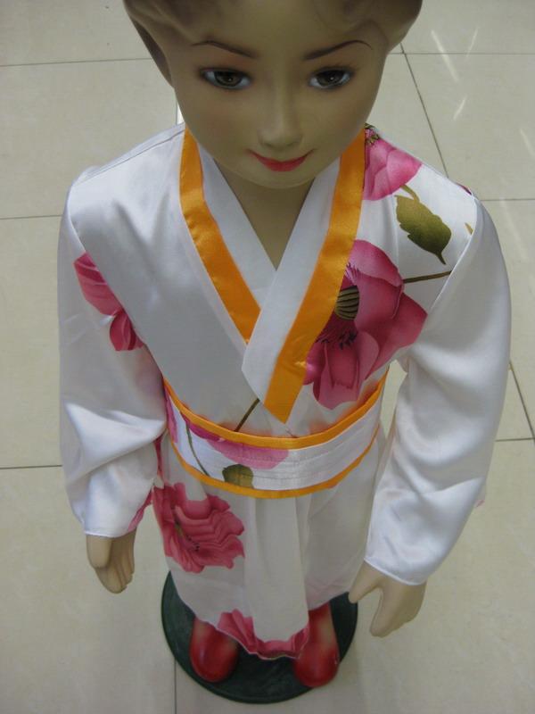 日本儿童和服裙演出服舞蹈服节日礼服