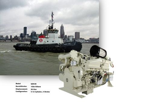宁波中策235kW-3600KW船用发动机