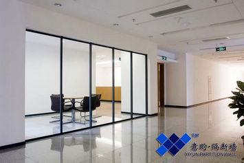 铝合金成品玻璃隔断/中空玻璃内置百叶/上海双玻百叶隔断