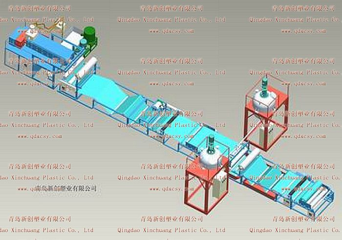 高分子聚乙烯丙纶、涤纶、自粘防水卷材生产线