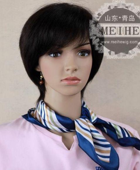 高档真人发生产厂家 日本女装假发、支持混批