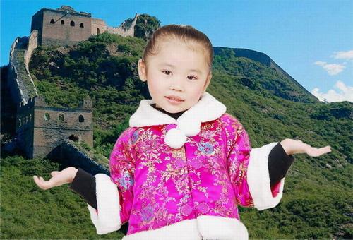 喜庆中国红儿童棉衣唐装秋冬外套