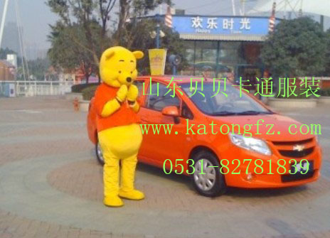 维尼熊卡通服装功夫熊猫卡通人偶泰迪熊卡通人偶服装山东济南卡通服装
