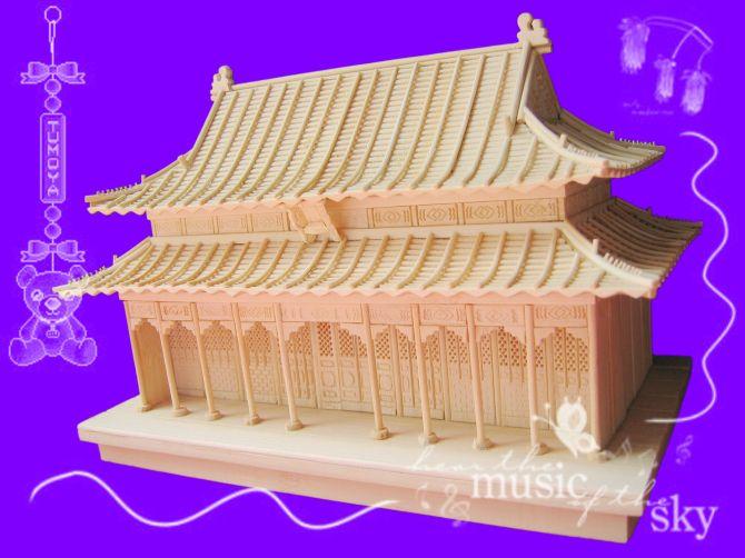 北京乔世盛源工艺品技术开发有限公司 竹制古建筑模型、沙盘、艺术品,礼品 竹制古建筑模型;就是用竹子作为原材料制作出的古建筑模型。它的特点是不开裂不变形。质地轻方便携带。环保,节能。现在用竹子做的古建筑模型已达百余种。 本公司是中国工商联商业礼品协会会员, 北京工艺美术协会会员。 产品获人文奥运和全国商业礼品协会设计制造大奖。 竹制古建筑模型是我公司获国家发明专利证书的产品。 产品的发明专利号;200710013622.