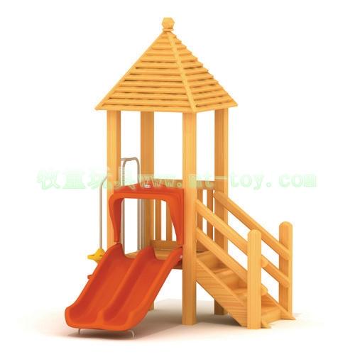 木质儿童滑滑梯 室内外组合滑梯