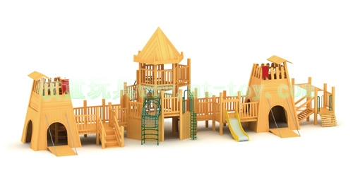儿童组合秋千滑梯 室内外木质滑梯
