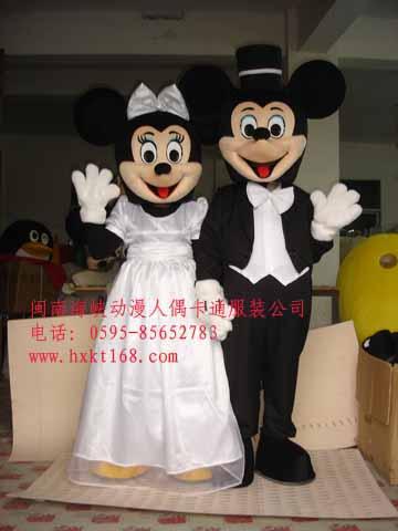 热卖十一国庆节卡通人偶服装/卡通服饰/婚庆卡通服装婚礼米老鼠