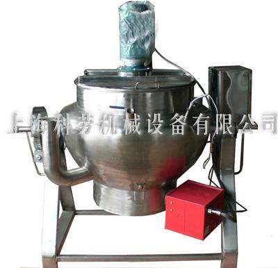 立式带搅拌保温层天燃气夹层锅-上海科劳