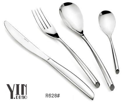 银貂出厂高档西餐刀叉勺,不锈钢刀叉更,儿童餐具。镀金镀银刀叉勺