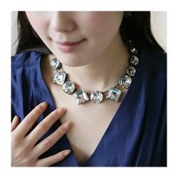 日韩国饰品欧美淑女绝美大颗水晶超闪项链明星批发1638-38
