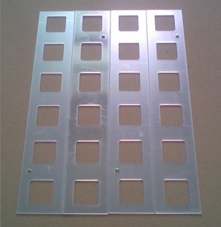 新款批发灯具反光片 镜面反光片 T8反光片 LED灯反光片!