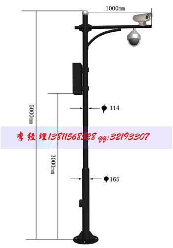电子警察杆摄像机立杆道路监控杆设计制作安装服务优质
