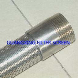 楔形丝筛管过滤器滤芯、V型丝过滤管、绕丝滤芯、过滤器滤元、