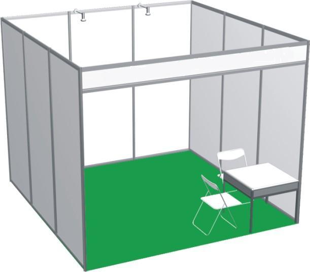 展会标摊搭建工程,PVC双面展板,8K展览铝料,八通展览铝料
