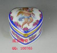 陶瓷心形首饰盒