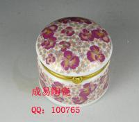 陶瓷圆形首饰盒