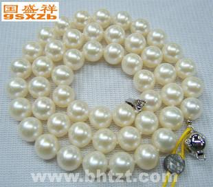 8-8.5mm白色透粉北海南珠新娘海水珍珠项链A