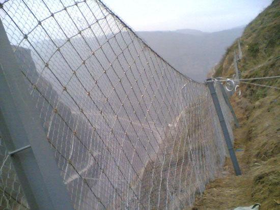 被动防护网,被动拦石网,镀锌钢绳网