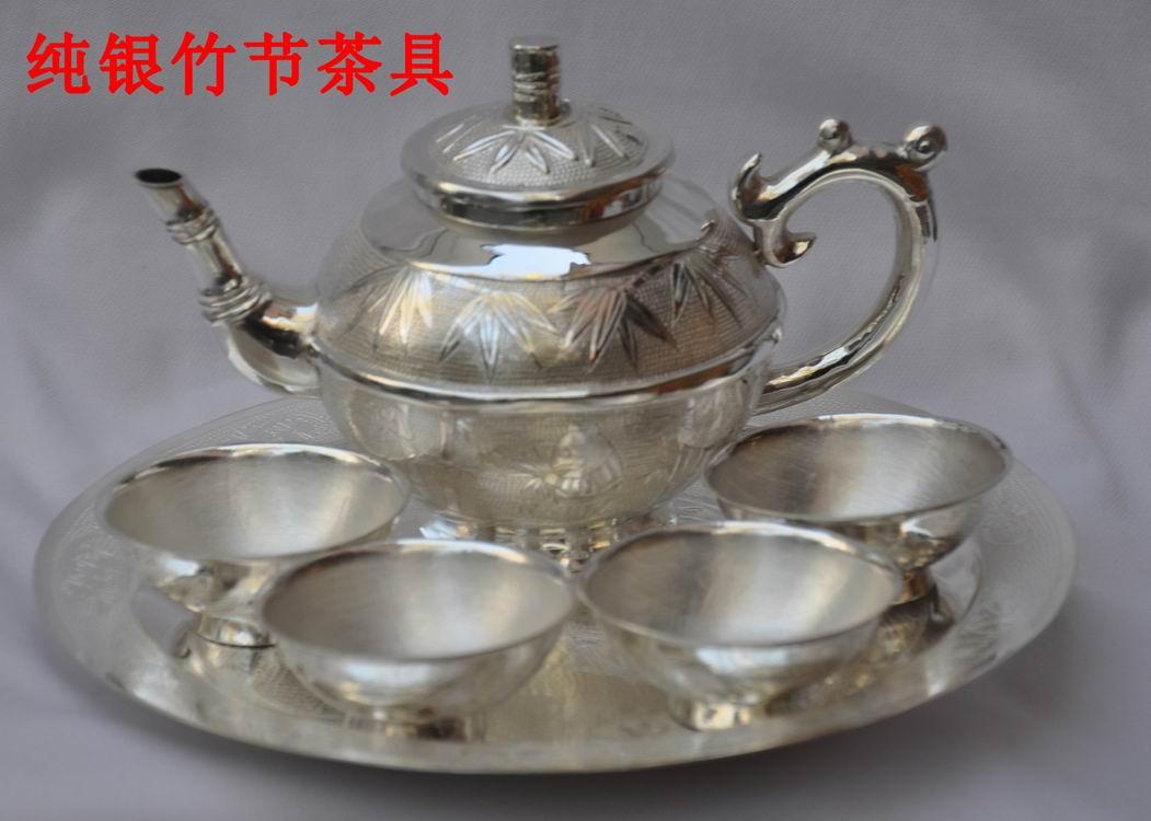 银质茶具、银制镀金茶杯、纯银茶具、银制茶杯、银制工艺礼品、银器皿
