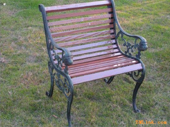公园景区金属园林椅休闲椅