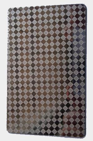 不锈钢整菱形花纹压花板