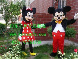 济南米老鼠卡通服装,米奇米尼卡通人偶服饰,迪士尼毛绒人偶服装租