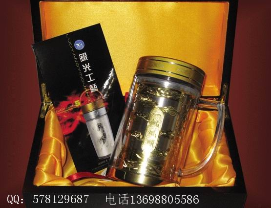春节礼品银杯子、保健银杯、银质镀金杯、银质镀金礼品、金银质礼品