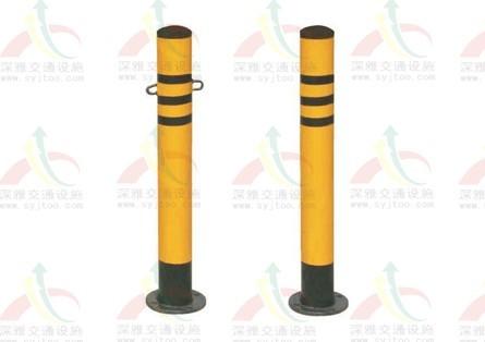 广州生产防撞隔离桩,镀锌管防护桩,广州安装警示桩,固定防护地桩