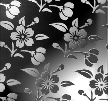 彩色不锈钢蚀刻板,供应彩色不锈钢黑钛镜面梅花蚀刻装饰板