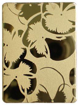 彩色不锈钢钛金镜面海棠花蚀刻板,佛山供应彩色不锈钢蚀刻板