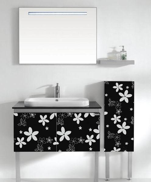 彩色不锈钢卫浴装饰板,不锈钢黑钛小碎花蚀刻卫浴装饰板