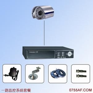 1路视频监控系统套餐 嵌入式硬盘录像机+夏普摄像机
