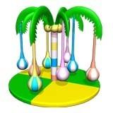 博世达新淘气堡,亲子乐园-旋转椰树