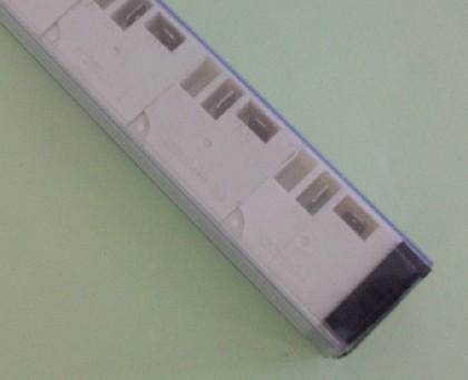 昆山祥怡专业生产PVC包装管方管 连接器包装管 继电器包装管