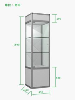 佛山厂家直销八棱柱展柜,酒柜高柜,精品玻璃柜,商品展柜