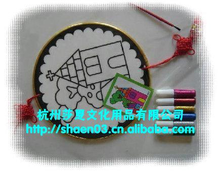 供应中国结金粉画系列,大圆、中圆、小圆