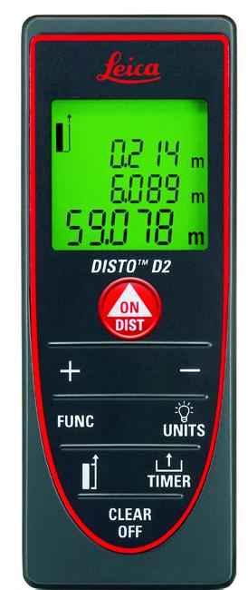 徕卡测距仪Disto D2 60米精准多功能测量