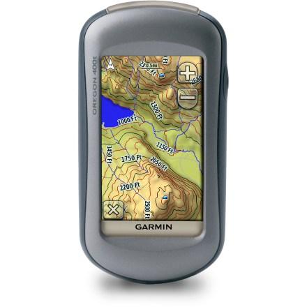佳明GPS手持机俄勒冈400t 户外探险必备