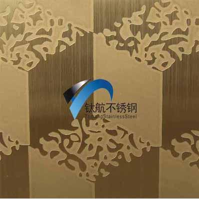山东销售不锈钢蚀刻板,钛金镜面不锈钢板加工方格纹装饰板