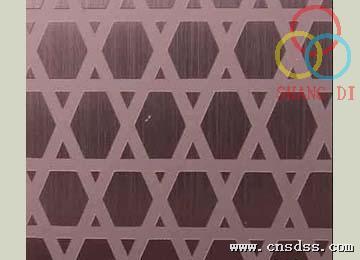 304彩色不锈钢蚀刻板,不锈钢拉丝蚀刻木栅栏装饰板