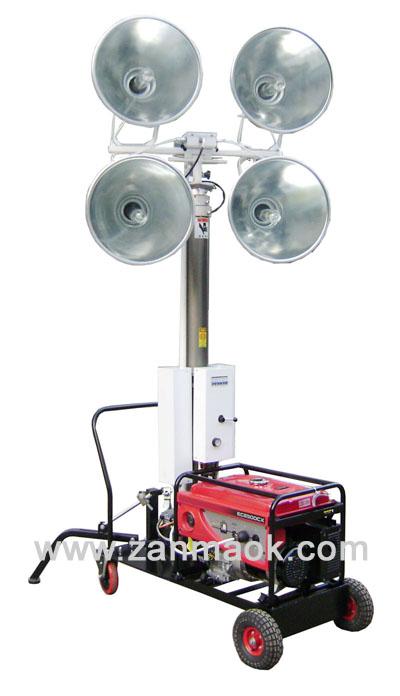 供应5KW汽油移动照明灯车