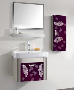 紫红镜面201不锈钢浴室柜装饰门板加工