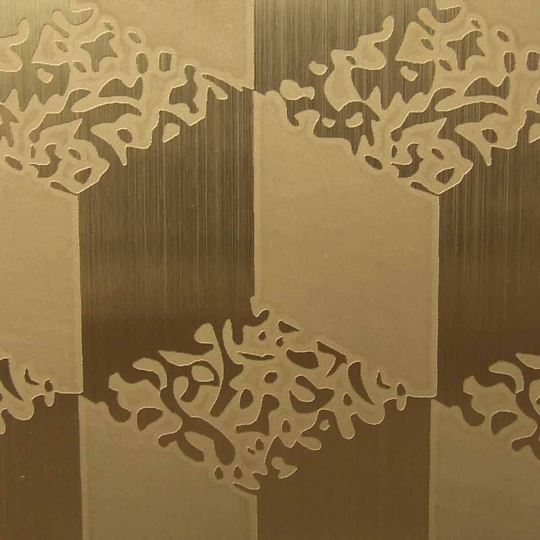 供应加工彩色不锈钢钛金腐蚀装饰板,价格实在不锈钢蚀刻花板