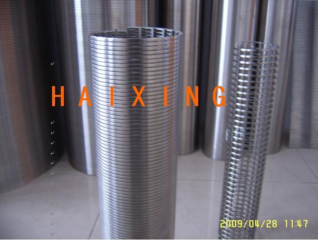 不锈钢楔形绕丝筛管、滤水管,反卷筛管