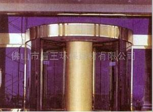 四翼自动环柱旋转门