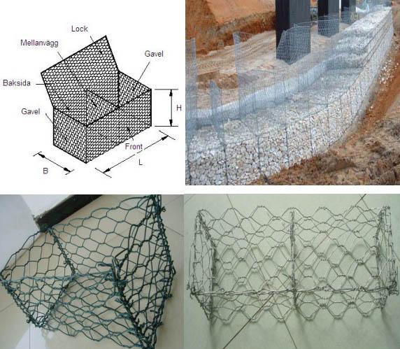 双绞合六角石笼网
