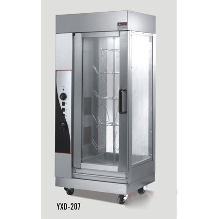 YXD-207多功能燃气烤鸭炉烤鸡炉 旋转式 省时节能
