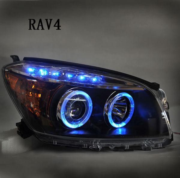 丰田RAV-4 ★汽车大灯总成双光透镜 氙气灯 超欧版设计