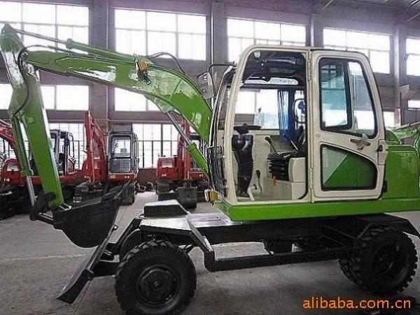 挖机小型国产挖掘机/60-7轮式小型液压挖掘机