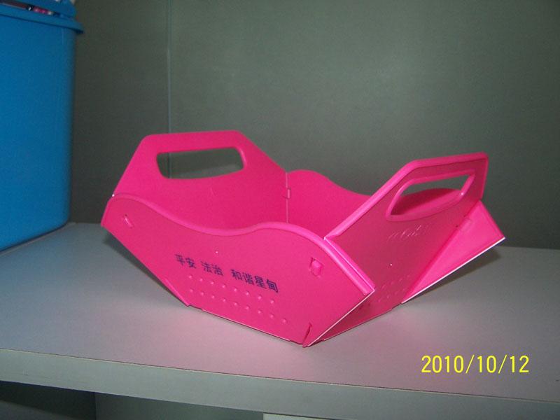 深圳塑胶制品厂家直销SGS环保折叠水果盘 瓜果盘 水果篮